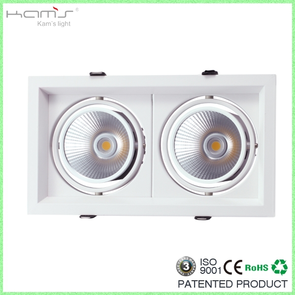 high quality bean pot lamp 20w dimmable led grille light