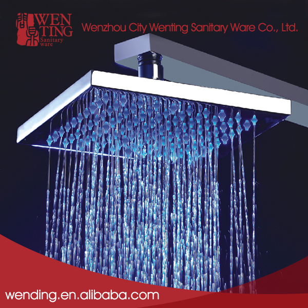Wenting changing colors led rectangle unique rainfall shower head