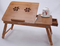 hot selling portable bamboo laptop desks, folding bed study table wholesale