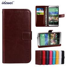 Luxury Flip PU Leather Wallet Mobile phone Cover Case For HTC One M8 with Card Holder