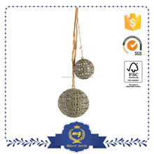 Artificial Christmas decorating small metal ball decor