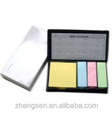 PU leather box sticky notes memo set calendar