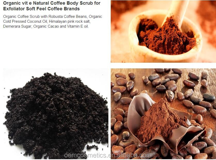Arabica Coffee Scrub Organic Coconut Whitening Body Scrub for Skin Care with Dead Sea Salt