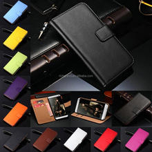 Genuine Leather Flip Wallet Case Cover Card Holder For HTC M8 M9