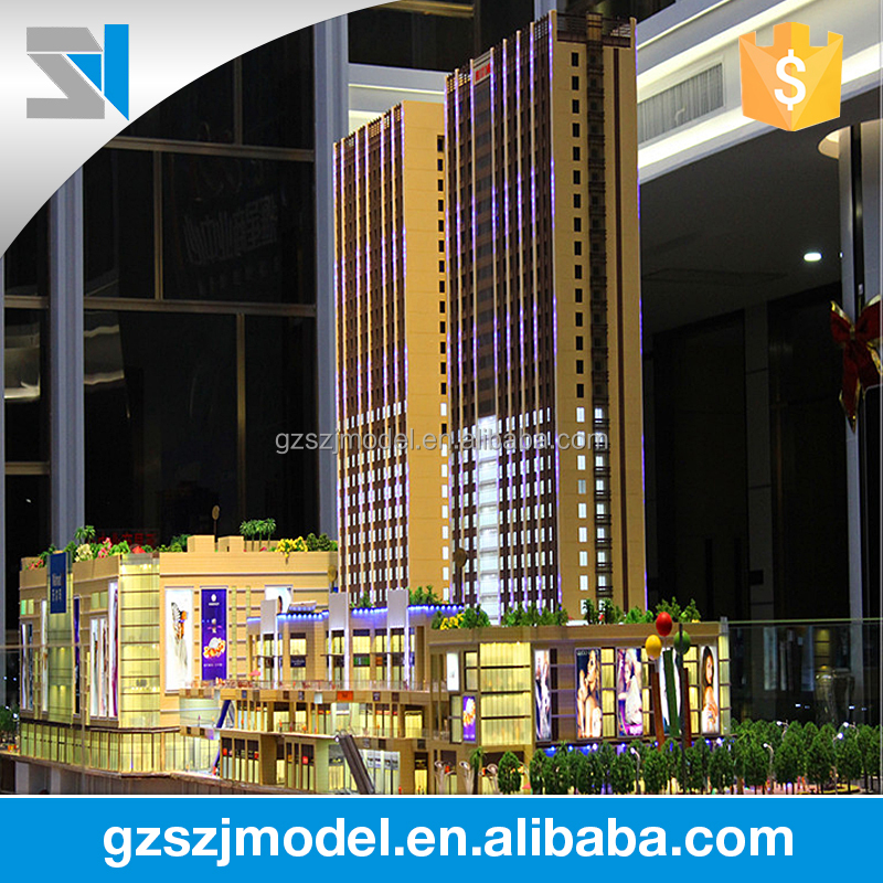 Modern business center Design 3d free architectural models