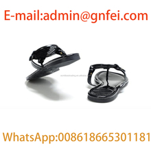 Women Genuine Leather US Famous Classical Designer TB Slides Summer Flip Flops Miller Metallic Thong Sandals Women Slippers