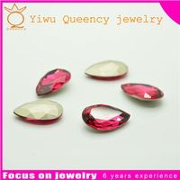 high quality crystal point back heart stones manufacture