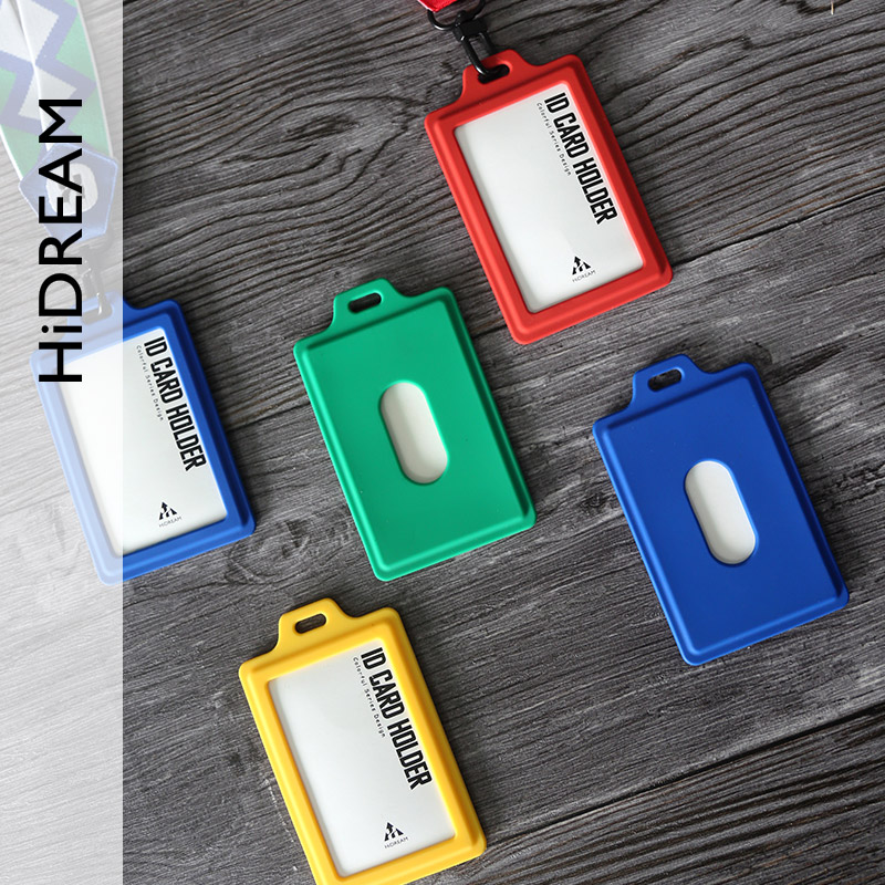coloful silicone business id card holder