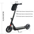 Wholesale 10 inch electrical mobility scooter foldable with 2 big Wheels for adult Brushless motor e-scooter  Easy folding L9-20