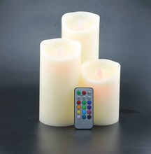 led wedding candle with candle wick flicker