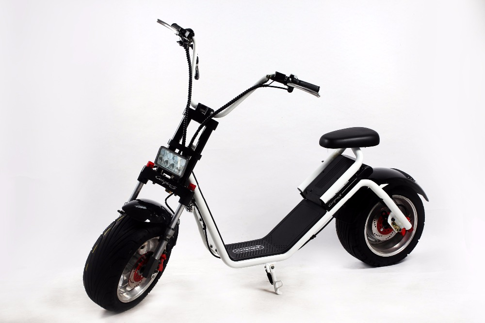 Three 2 Wheel 1000W Electric Mobility Scooter With Pedal