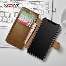XOOMZ 2017 New Flip Leather Wallet Phone Case for iPhone 8 Case Cover with Credit Card Slots