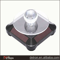 solar power rotating display stand