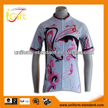 2015 Man's wear Bike uniform with Sublimation printing bicycle uniforms