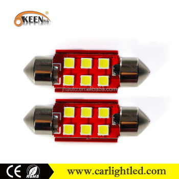 High quality Canbus festoon led car bulb,3030 chips 6smd car led spot light 12v with no-polarity fecture