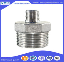 Factory Selling Stainless Steel BSP Male Hex Reducing Nipple pipe fitting