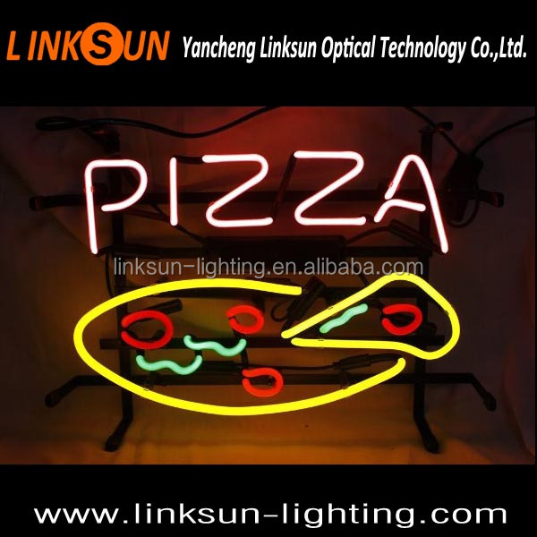 PIZZA Fast food store neon sign