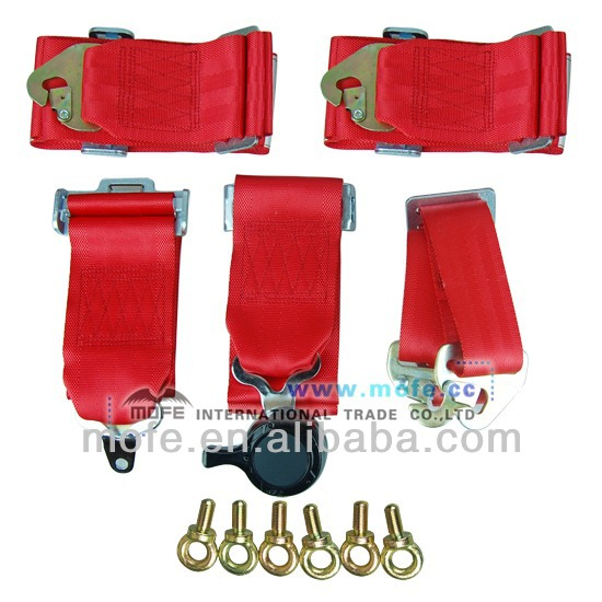 Red Racing 6 Point Replacement Seat Harness