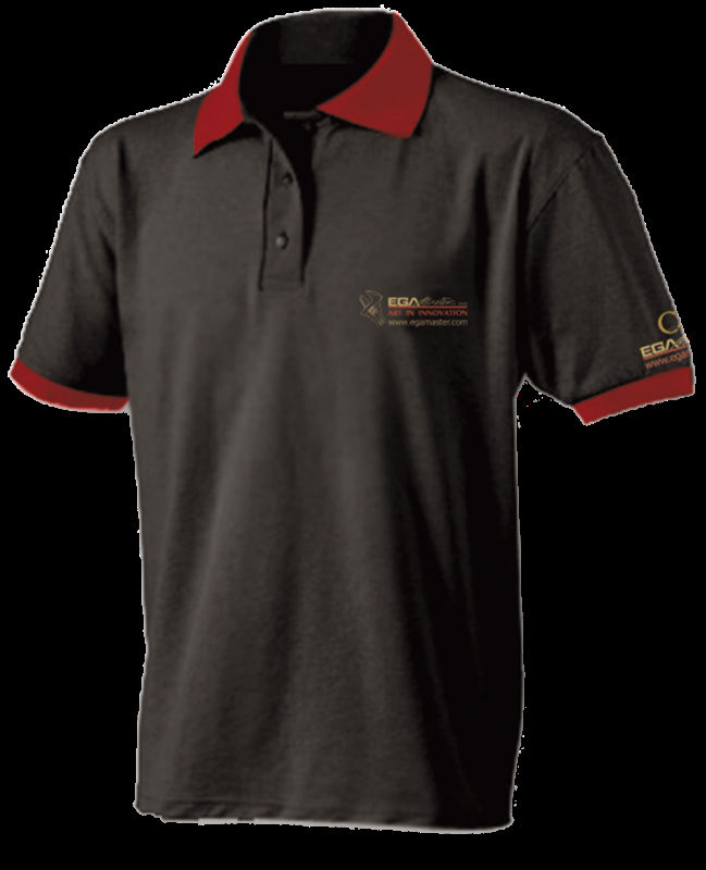 Mid BlueT shirt with logo embroidery ( ISO 9001 Standerd Fabrics )