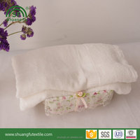 White 100% bamboo terry fabric textile 70*140cm bath towel with custom logo