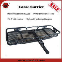 "Manufacturer Competitive Price 500lbs Loadings 61""x19"" Steel Hitch Mounted Car Cargo Carrier"