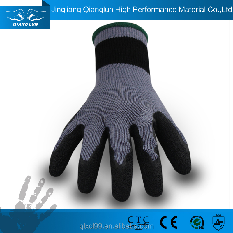 QL new model custom heavy work latex gloves for automobile industry