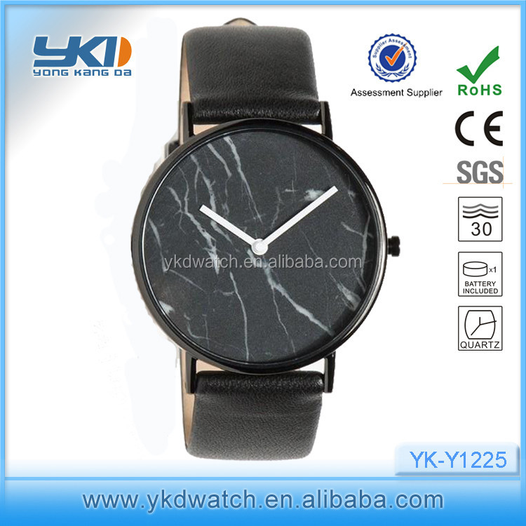 Shenzhen Real Factory hottest minimalist marble face watch men for 2016