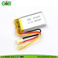 Rechargeable 502040 3.7v 380mah small polymer li-ion battery for smart devices