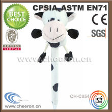 Promotional products plush cow pencil case