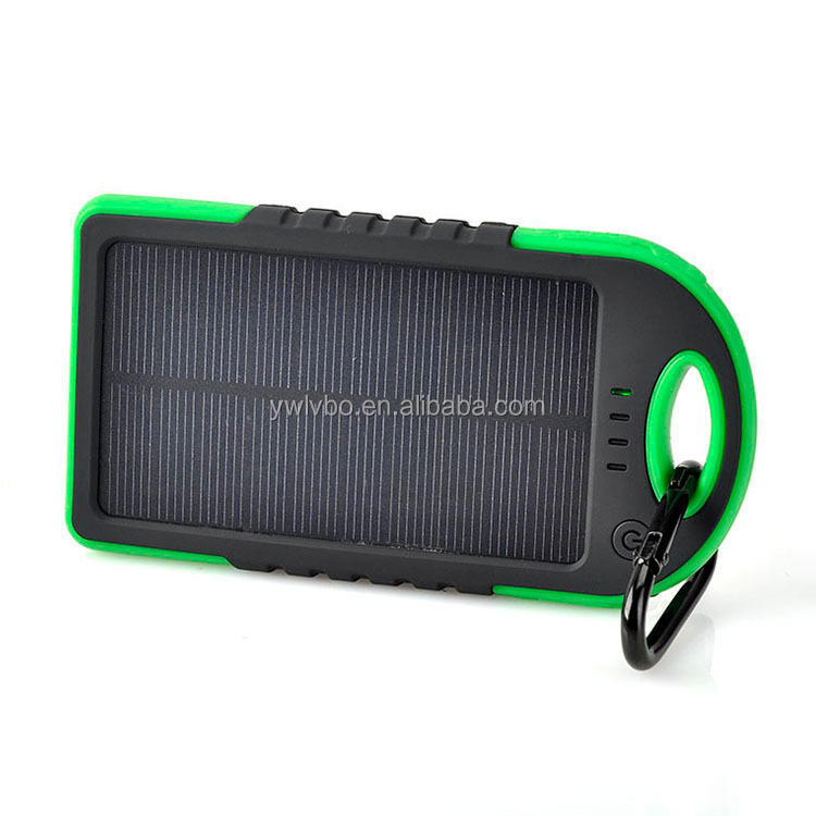 Gold supplier travel solar mobile power with portable carabiner