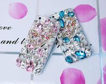 crystal brushed aluminun mobile phone case for iphone5c
