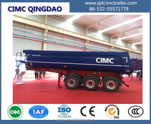20 CBM 3 axles Tipper dumping Cargo Semi Trailer for Ghana for sale