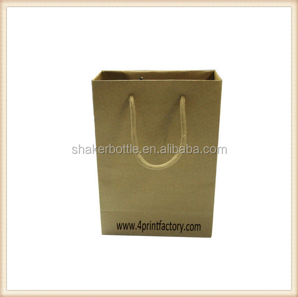 Top Quality With Customized Logo Printing Brown Paper Bag/Shopping Bag/Kraft Paper Bag With Handles For Gift