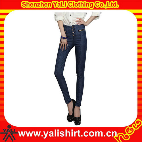 Super quality custom denim pants women jeans