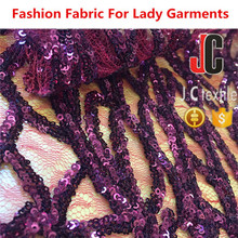 M651102 JC TEXTILE plain dyed polyester lace spangle embroidery fabric 100% polyester burnout fabric
