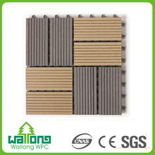 Recyclable outdoor vinyl flooring waterproof wpc garden tile
