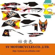 KTM 250 pit bike PVC stickers graphics 3M