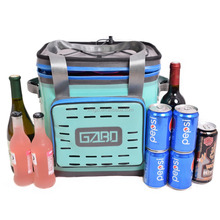 GZLBO 24Cans TPU Customized Waterproof Lunch Picnic Beer Bag outdoor cooler box Thermal Insulated Travelling bag Ice Cooler bag