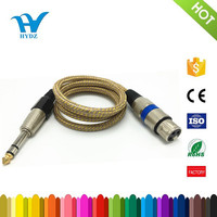 6.35mm mono connector to 3pin Xlr microphone cable