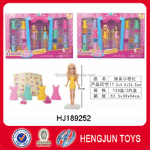 Beauty girl fashion doll toy dress up game toys