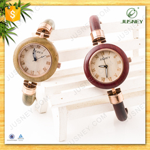 Brand new design women wrist watch eco-friendly wooden watch fashion luxury lady watch