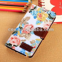 Elegant Flower and Deluxe Book Style Folio PU Leather Wallet with Magnet Design Flip Case For Samsung Galaxy Note 3 N9000