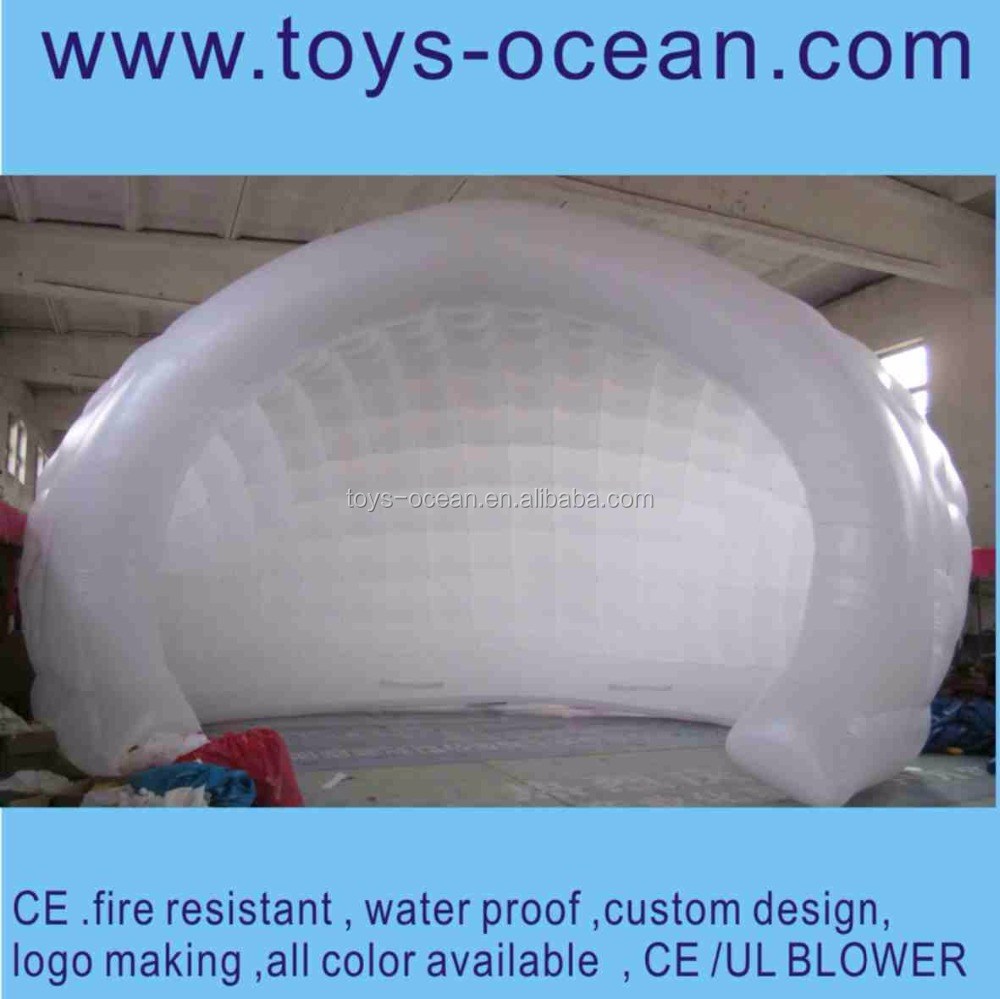 white color half round inflatable bubble dome tent/garden tent for sale