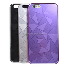 Diamond Pattern PC Protective Cover Case For iPhone 6