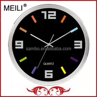 10inch Black Dial Promotional Metal Wall Clock