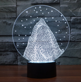 customized your own design plastic toy/make custom 3d illusion LED mountain night light for christmas gift