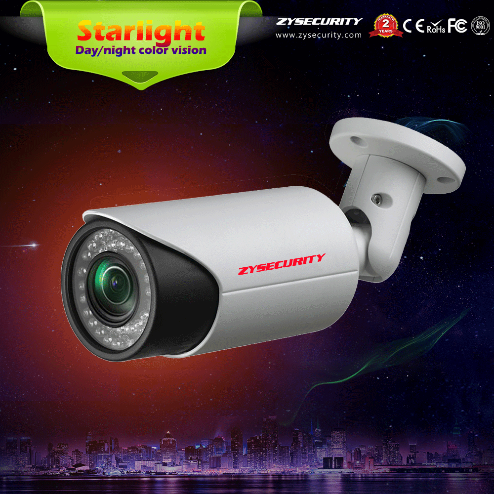 2MP 1080P SONY291 day and night color vision IP starlight camera, P2P outdoor IP66 Waterproof night color vision cctv camera