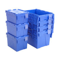 Plastic Hinged File Storage Box with Lid