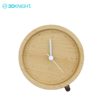 Natural maple small modern wood clock table clock custom