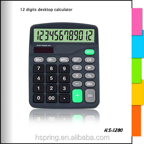 12 Digits Dual Solar Power Desktop Finance Calculator with Big Screen